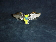 GRATEFUL DEAD YELLOW DANCING BEAR WINGS PIN