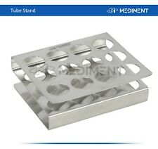 Dental Stainless Steel Tube Stand Rack Holder 12 Holes Lab support