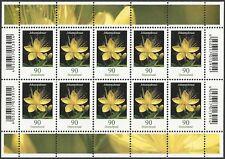Johanniskraut 90 Cent - Zehnerbogen postfrisch - Dauerserie Blumen - Mi.Nr. 3304