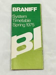 BRANIFF INTERNATIONAL SYSTEM TIMETABLE SPRING 1975