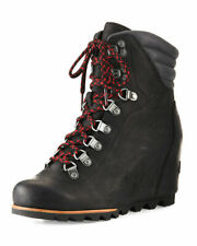 NWOB $300 Sorel Womens Conquest Waterproof Leather Wedge Boot Size 9