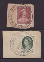 Australia RAAF postmarks on piece x 2