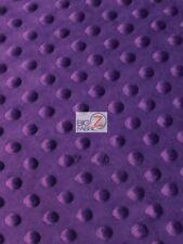 DIMPLE DOT MINKY FABRIC - Dark Purple - SEW-SOFT BABY FABRIC RAISED BY YARD