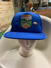 trucker hat baseball cap Vintage Snapback Mesh Patch Banff Canada Pin