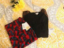 NWT Lularoe Randy Arrows & Cassie Skirt Feathers 3XL Matching Outfit Boho Lot