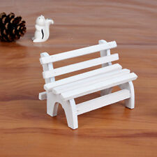 White Mini Artificial Chair Micro Fairy Garden Figurine Miniature Landscape 6A