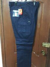 Bisley Workwear 8 Pocket Cargo Cotton Work Trouser Pant NAVY or KHAKI BPC6007