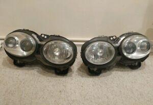 Refurbished pair left & right Jaguar X-Type halogen Headlights NEW PA6 adjusters