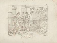 1805 Raffaello incisione in acciaio Psichè ritorna dalle sue sorelle