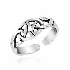 Silver Toe or Pinky Ring Mystical Never-Ending Celtic Knot Sterling