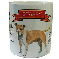 Staffy Dog Mug, Staffordshire Bull Terrier Mug, Staffy Gift, Staffy Owners Gift.