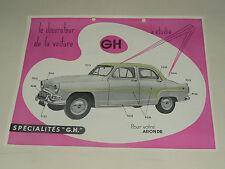 Prospectus SIMCA Aronde  Acc GH 1958  catalogue,brochure, prospekt
