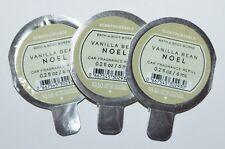 3 BATH BODY WORKS VANILLA BEAN NOEL SCENTPORTABLE FRAGRANCE REFILL CAR FRESHENER
