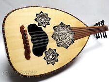 Egyptian Oud Lute Ud Oriental Folk Fretless Guitar +Soft case & Extra Strings