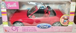 Barbie Ford Mustang GT Convertible Car Red 2003 Mattel, New in Box!!