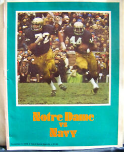 1973 Notre Dame Fighting Irish vs Navy Football Nov 3, 1973