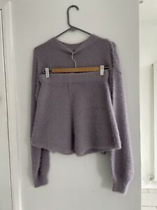 Nasty Gal Jumper And Shorts Loungewear Set Size S Fluffy Soft Warm