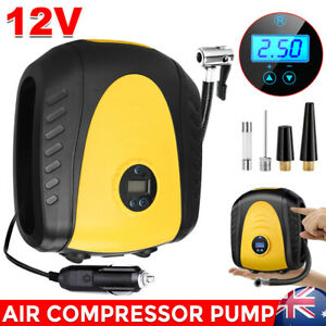 12V Digital Car Tyre Inflator Air Compressor 4WD Truck Bike Pump W/ LED Portable