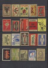 Nice Lot of 20 Unsorted Vintage Brands European Matchbox Labels