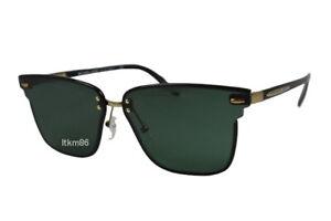 MICHAEL KORS BERLIN MK1051J-125371 Dark Brown Windsor Rim / Green Sunglasses