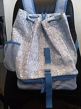 POTTERY BARN KIDS DRAW STRING TIKI BACKPACK BLUE - NEW WITH TAGS