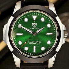Mens Quartz Waterproof Military Sports Wrist Watches Leather Band Luminous Date