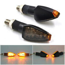 2Pcs Motorcycle LED Turn Signal Amber Lights Indicators EMARK Smoke Lens M10