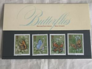 1981 Royal Mail GB Butterflies set of 4 stamps pack #126 Mint