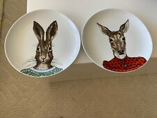 WEST ELM RACHEL KOZLOWSKI DAPPER SWEATER ANIMAL PLATES