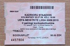 Tickets Levadia Estonia - Wisla Krakow, Poland 2009
