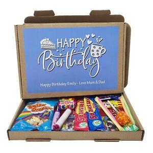 Personalised Birthday Retro Sweet Treats Box Gift Hamper Present Kids- Lockdown