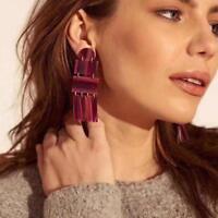 Earrings Geometric Resin Dangle Big Earrings Women Fashion Jewelry Statement