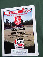 NEWTOWN vs HEREFORD - ALLBRIGHT WELSH CUP 3RD ROUND REPLAY - 90/91
