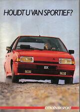Citroen BX Sport 1985-86 Original DUTCH Market Sales Brochure