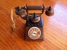 Vintage Play Me Miniature Telephone Pencil Sharpener Copper Bronze