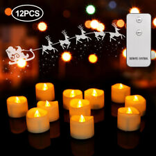 12X Flameless Flickering Led Tea Light Home Decor Electric&Remote Control Candle