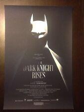 The Dark Knight Movie Poster 2012 Print by Olly Moss MONDO MINT