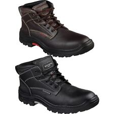 Mens Skechers 77143 TARLAC Steel Toe Puncture Slip Resistant Work Boots Shoes