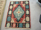 """VINTAGE SMALL 30 X 22"""" MIDDLE EASTERN RUG -GREAT COLORS AND DESIGN -TIGHT WEAVE"""
