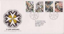 GB ROYAL MAIL FDC 1987 ST JOHN AMBULANCE STAMP SET BUREAU PMK