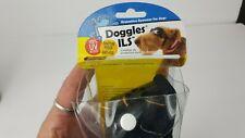 DOGGLES ILS BLUE LENS ANTIFOG SHATTERPROOF 1OO% UV PROTECT LARGE DOG GOOGLES NIB