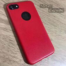 IPhone 7 CASE Genuine Haute Densité TPU Ultra Flex Silicone Cuir Anti-Chocs Rouge