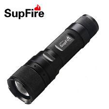 SUPFIRE F3-L2 CREE L2(T6)LED 10W 1100 Lumen Focusing Flashlight LED Torch Black