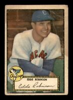 1952 Topps Set Break #32 Eddie Robinson Black Back GD *OBGcards*