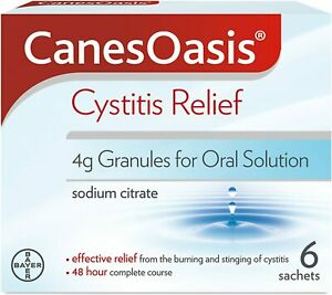 CanesOasis Cystitis Relief Granules for Oral Solution Cranberry Flavour, Pack 6