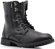 NIB MEN Winter Military Ankle Mid Calf Snow Boots Lace Up Combat Oxfords SH04