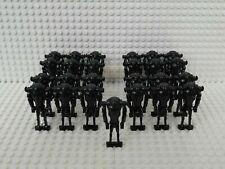 25x Superkampfdroide (B2 Battle Droid) Schwarz mit Grundplatten - kompatibel