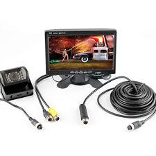 4 PIN Car Truck Bus 7 Inch Monitor 12V 24V Parking KIT Rear View Reverse Camera