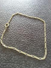 Armband Figaro mit Federringverschluss 333 er Gold 19 cm