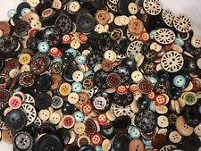 Assorted Mix Wood buttons Handy Sewer's stash Many sizes and colors